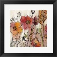 Framed Contemporary Botanical Cream II