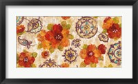 Framed Hibiscus and Mandala Flowers