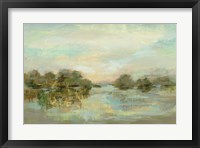 Framed Dreamy Lake Green