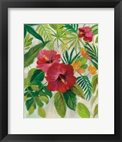 Framed Tropical Jewels I