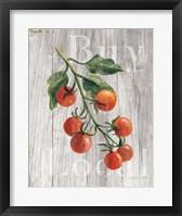 Framed Market Vegetables IV on Wood