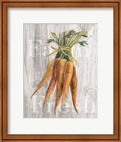 Framed Market Vegetables I on Wood