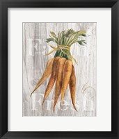 Framed Market Vegetables I on Wood