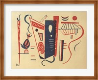 Framed Woodcut for 20th Century, 1939