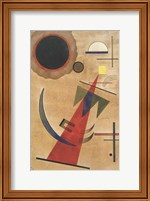 Framed Pointed Red Shape, 1925