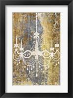 Framed Gilded Chandelier