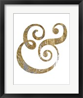 Framed Gilded Hipster Ampersand