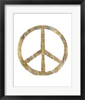 Framed Gilded Hipster Peace