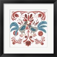 Framed Americana Roosters II