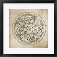 Framed Rosette II Neutral