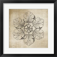 Framed Rosette V Neutral