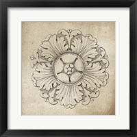 Framed Rosette VI Neutral