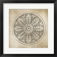 Framed Rosette VIII Neutral