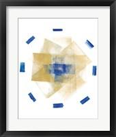 Framed Blue and Gold Element I