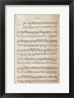 Framed Sheet of Music IV