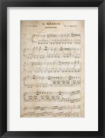 Framed Sheet of Music II