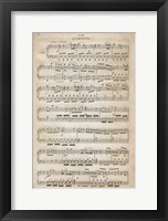Framed Sheet of Music III