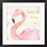 Flamingo Fever III Framed Print