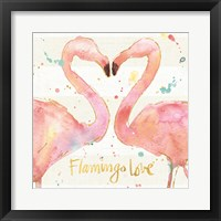 Flamingo Fever II Framed Print