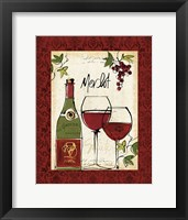 Framed Wine Not I Border