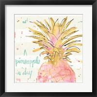 Framed Flamingo Fever V