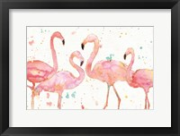 Framed Flamingo Fever I