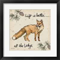 Framed Lodge Life V