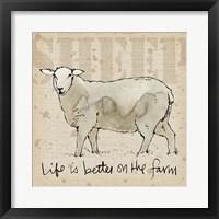 Framed Farm Life IV