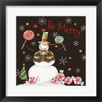 Framed Sweet Snowmen IV Black
