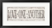 Framed Love One Another Wood Sign