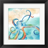 Framed Sea Splash Octopus