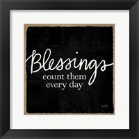 Framed Blessings of Home III (Blessings)