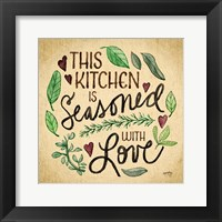 Framed Kitchen Memories I (Kitchen seasoned)