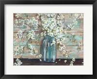 Framed Blossoms in Mason Jar