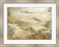 Framed Taupe Watercolor Abstract