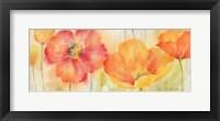 Framed Poppy Meadow Spice Woodgrain Panel