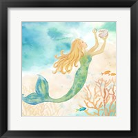 Framed Sea Splash Mermaid I