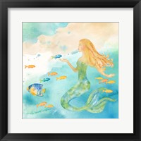 Framed Sea Splash Mermaid II