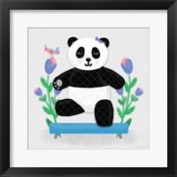 Framed Tumbling Pandas I