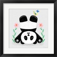 Framed Tumbling Pandas II