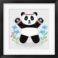 Framed Tumbling Pandas III