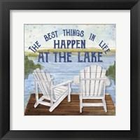 Framed Lake Living I (best things)