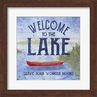 Framed Lake Living III (welcome lake)