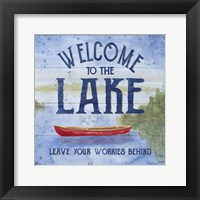 Framed Lake Living III (welcome lake)