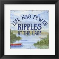 Framed Lake Living IV (ripples)