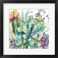 Framed Succulent Garden Watercolor I