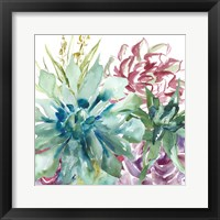 Framed Succulent Garden Watercolor II