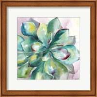 Framed Succulent Watercolor I