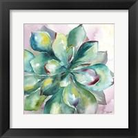 Framed Succulent Watercolor I