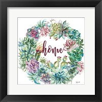 Framed Succulent Garden Wreath Home